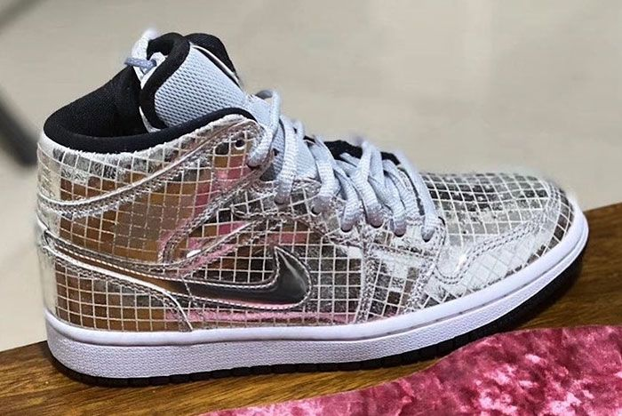 Air Jordan 1 Mid Disco Ball Release Date Price Side