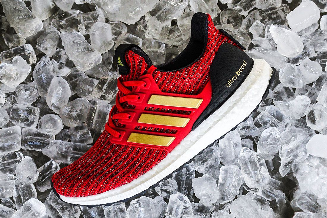 Game Of Thrones Ultra Boost Red Gold Side