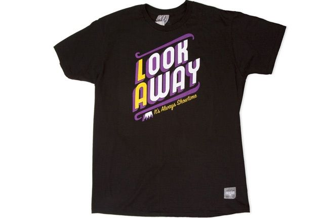 Look Away Tee Blk 646 1