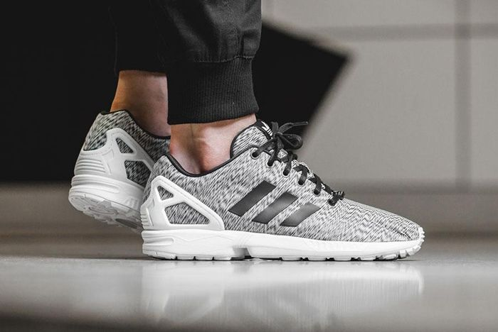 Adidas Zx Flux White Static Print 6