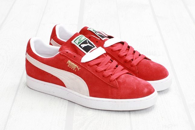 Puma Suede Red White Outer Profile 1