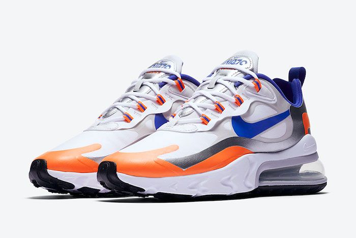 Nike Air Max 270 React Knicks Cw3094 100 Front Angle