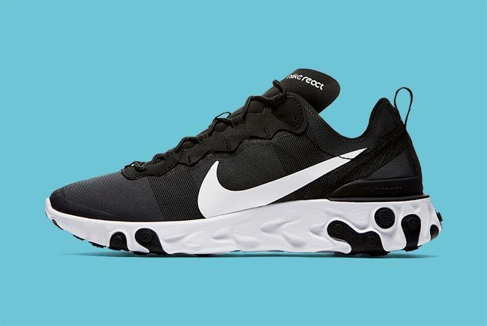 Nike Element React Black White 3