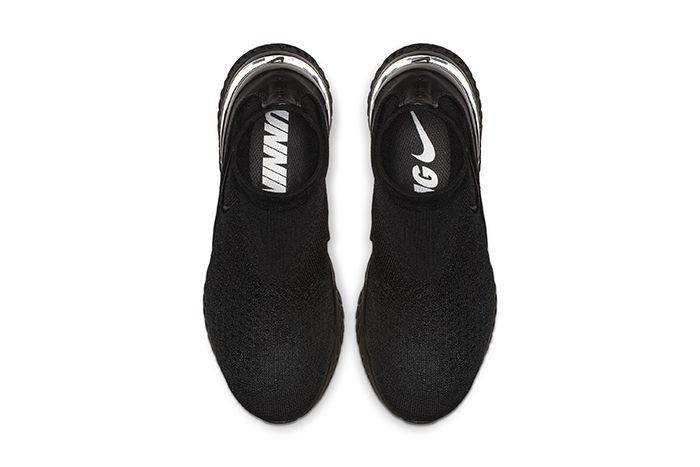 Nike Rise React Flyknit Triple Black 3