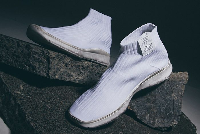 Maison Margiela Knit Sock Boot White 2