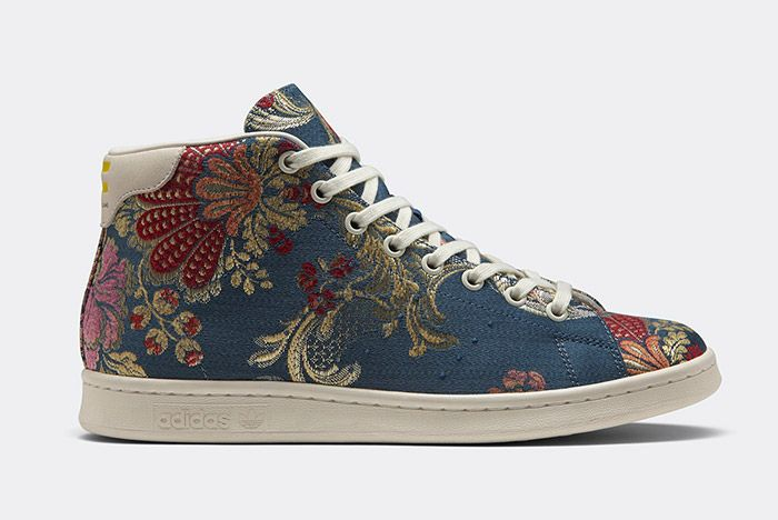 Adidas Pharrell Williams Stan Smith Mid Jacquard Floral 3