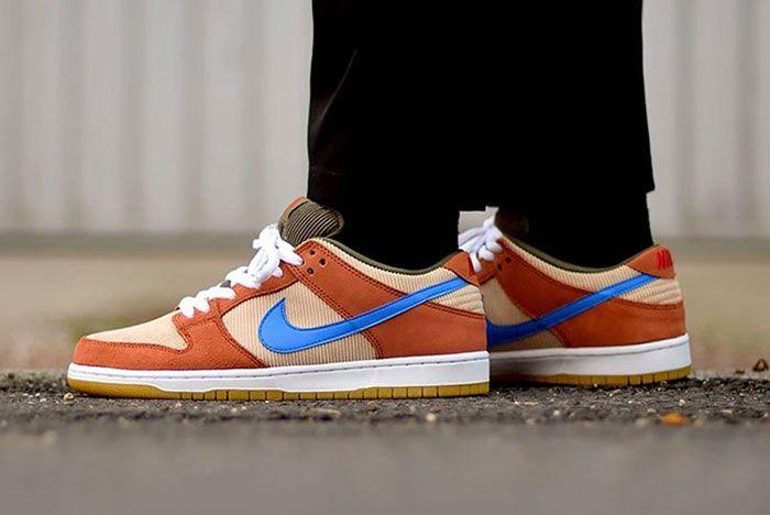 Nike Sb Dunk Low Corduroy Bq6817 201 1 On Foot
