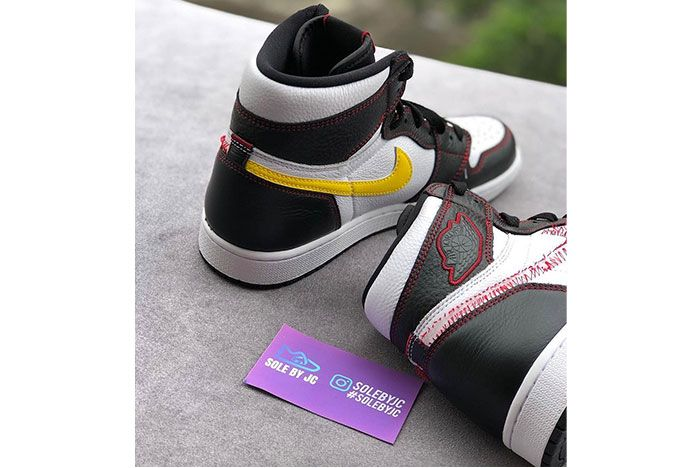 Air Jordan 1 Retro High Og Dynamic Yellow Red Stitch Release Date 2 Heel