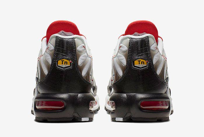 Nike Air Max Plus Black University Red Heel
