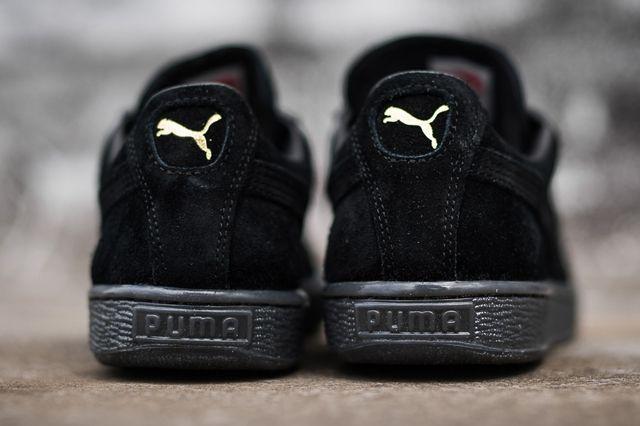 Puma Suede Black Grey 2