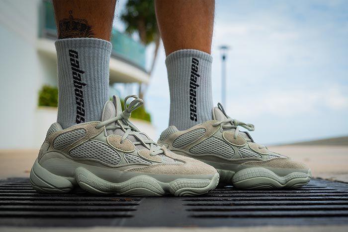 Yeezy 500 Salt On Foot Release 3