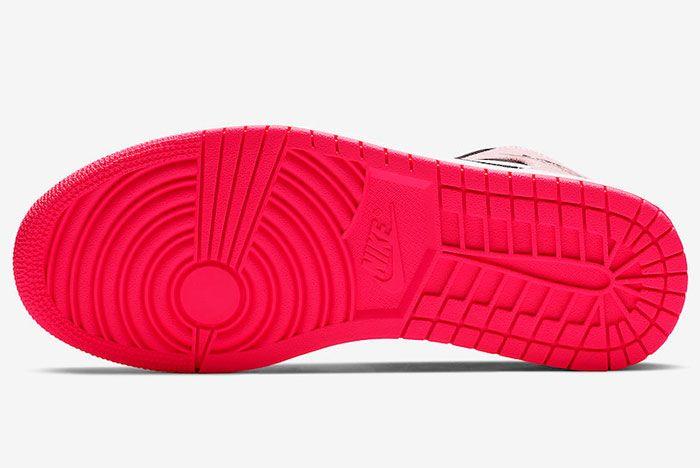 Air Jordan 1 Mid Crimson Tint Hyper Pink 852542 801 Release Date 1 Sole