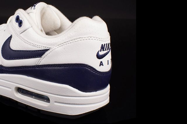 Nike Air Max 1 Leather White Navy 2