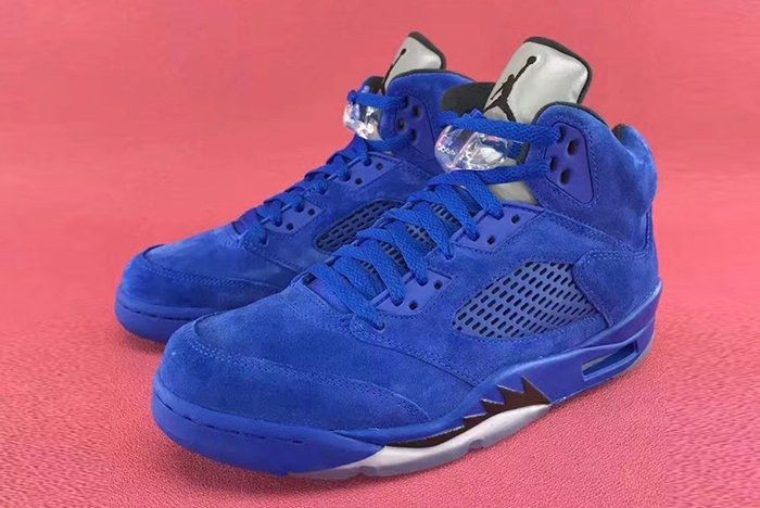 Air Jordan 5 Blue Suede2