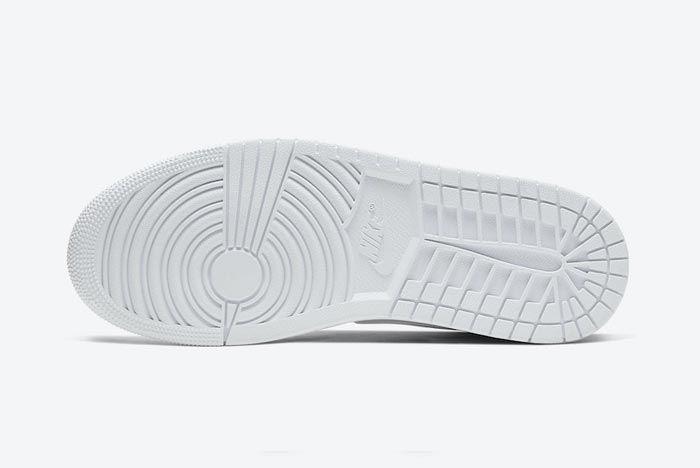 Air Jordan 1 Mid Triple White Outsole