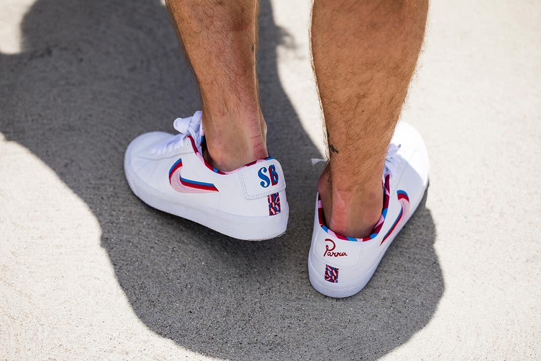 Parra Nike Sb Dunk Blazer Low Skated 1