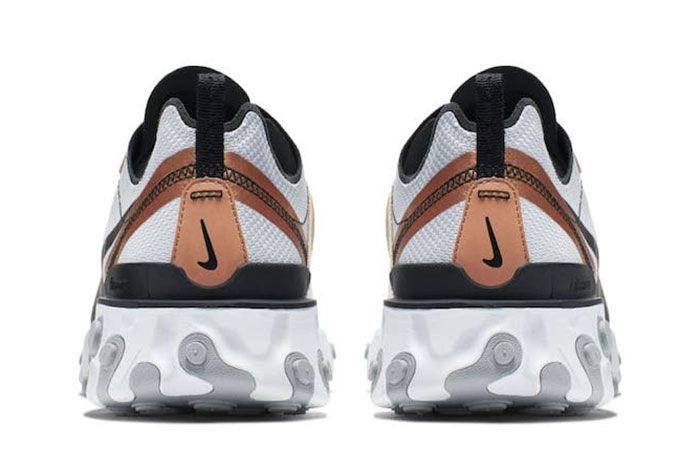 Nike React Element 55 Metallic Gold 2