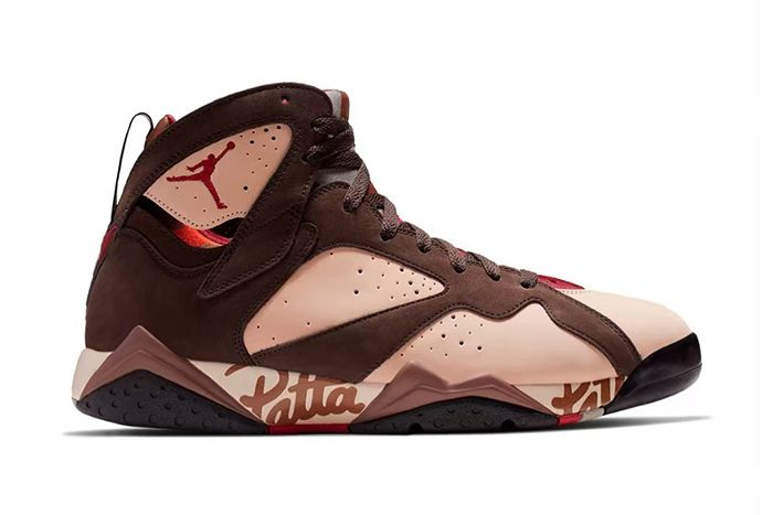 Patta Air Jordan 7 Og Sp Shimmer Tough Red Velvet Brown Mahogany Pink At3375 200 Release Date Lateral