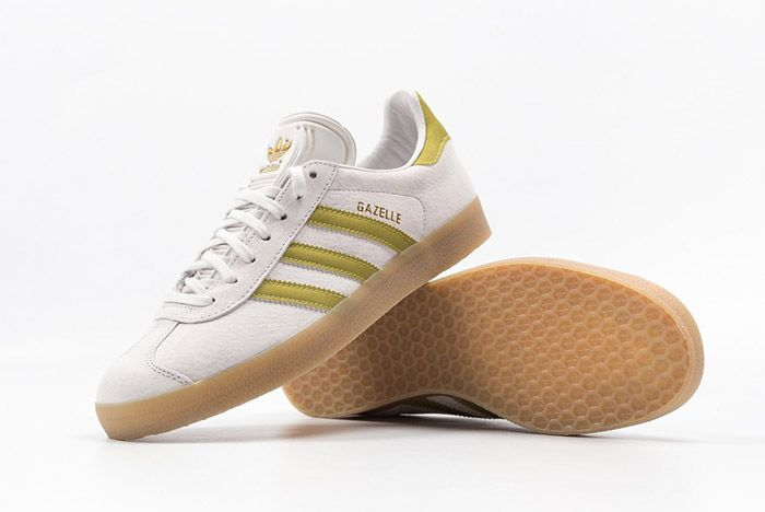 Adidas Gazelle White Gold Gum 3