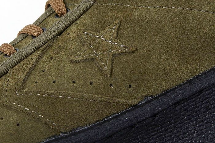 Nexusvii Converse Pro Leather Ox Olive Green Suede 4