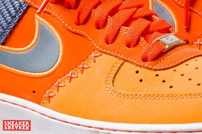 Nike Air Force 1 Low Team Orange Total Orange Toe Detail