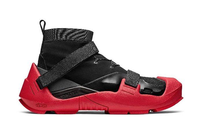 Matthew M Williams Alyx Nike Free Vibram Collaboration Black Red Release Date Medial