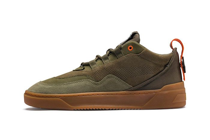 Puma Cali Zero Demi Midtop Sneakers Black Green Grey 3