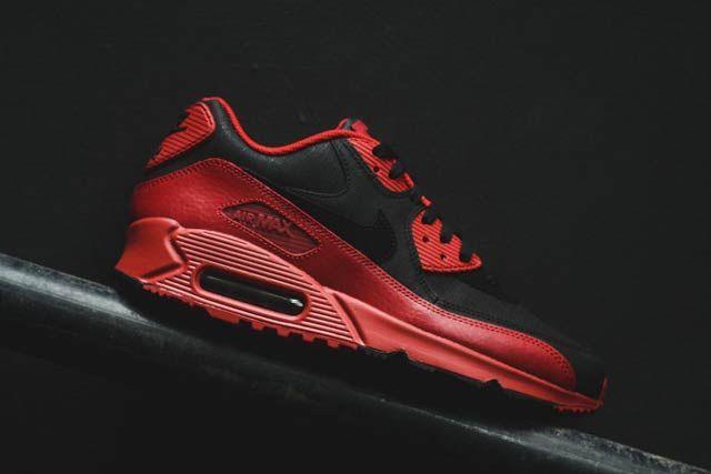 Nike Air Max 90 Gym Redblack2