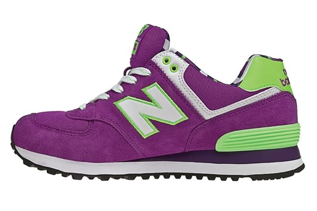 New Balance 574 The Yacht Club Collection Purple And Green Second Profile 1