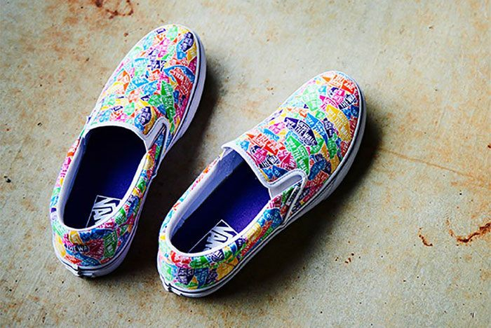 Vans Slip On Multi Color Logo 4 Top