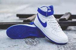 Nike Af1 High Summit White Royal Blue Thumb