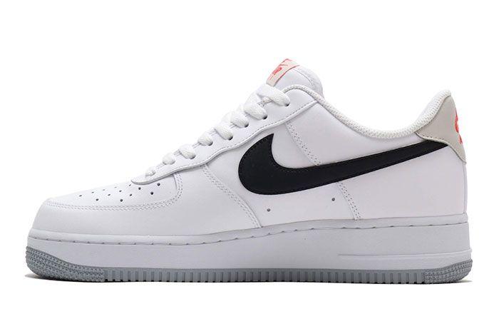 Nike Air Force 1 Low White Black Bone Ember Glow Ck0806 100 Medial