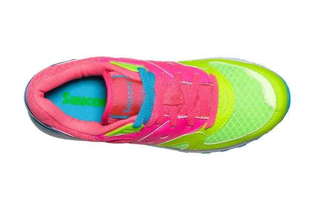 Saucony Master Control Girls Pink Blue Insole 1