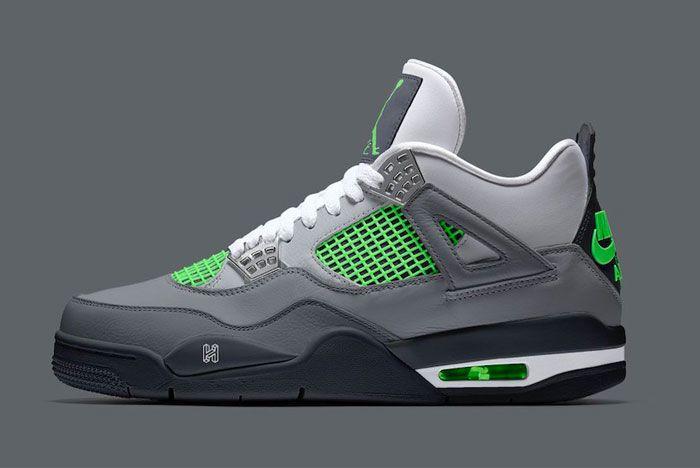 Air Jordan 4 Neon Left
