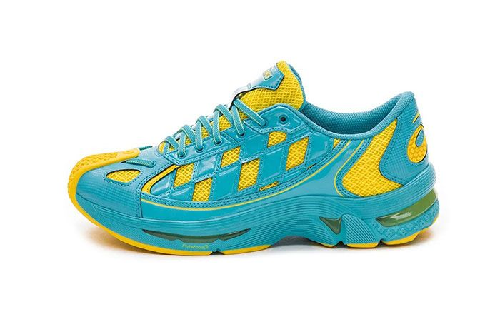 Kiko Kostadinov Asics Gel Kiril Blue Yellow Lateral Side Shot