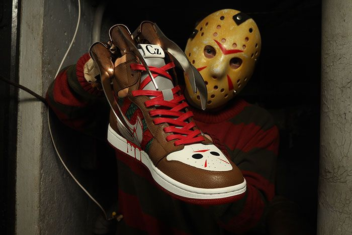 Ceeze Air Jordan 1 Freddy Vs Jason Custom In Hand