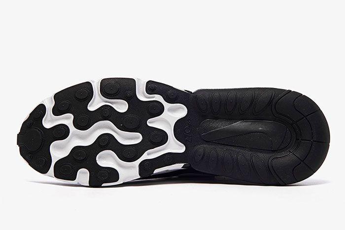 Nike Air Max 270 React White Grey Black Ao4971 001 Sole Shot