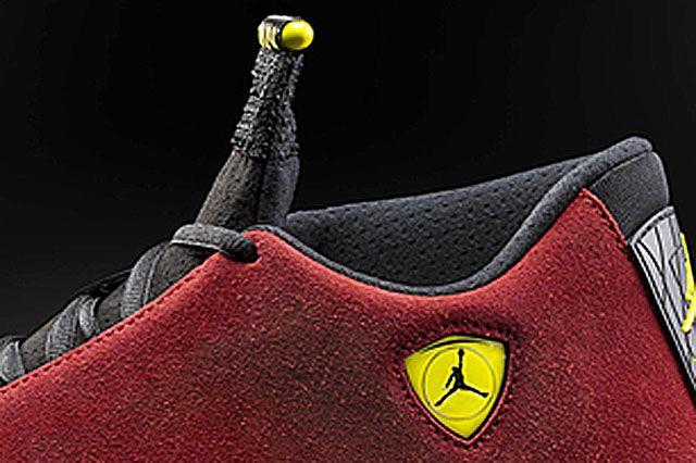 Air Jordan Xiv Red Suede Closeup
