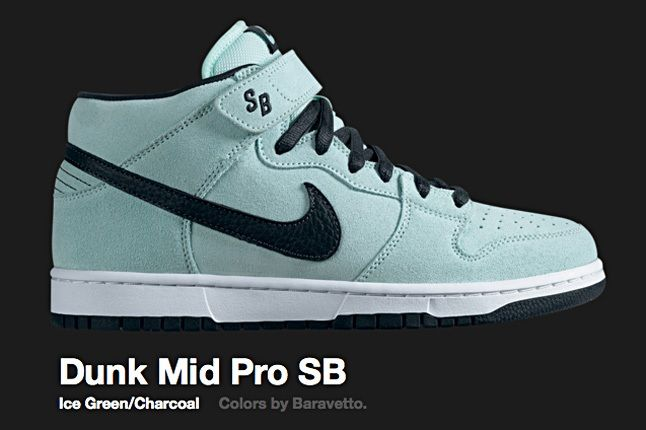 Nike Ice Green Dunk Mid Pro Sb 2009 1