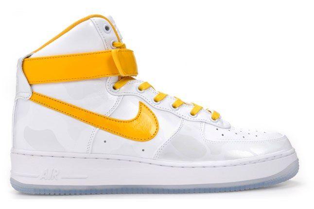 Nike Air Force 1 High Comfort Premium White Yellow 1