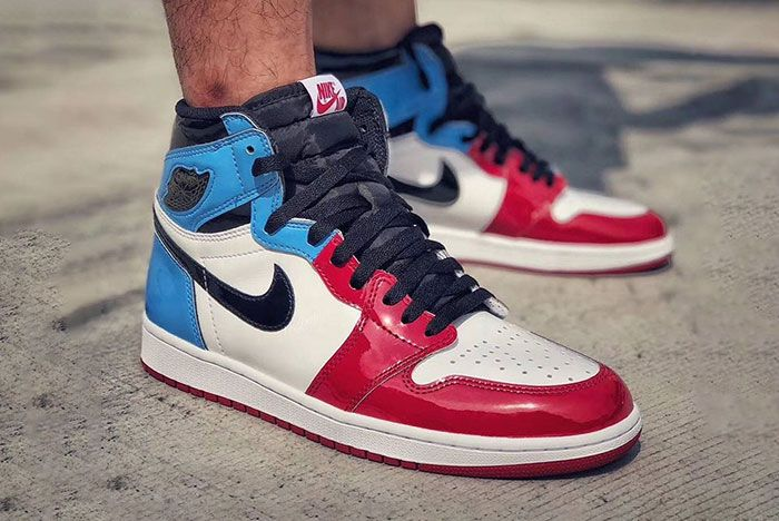 The Air Jordan 1 Fearless Reps Unc And Chicago In Patent