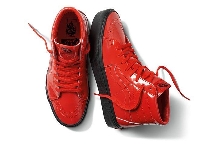 Vans David Bowie Collection Red Shoes Sk8 Hi