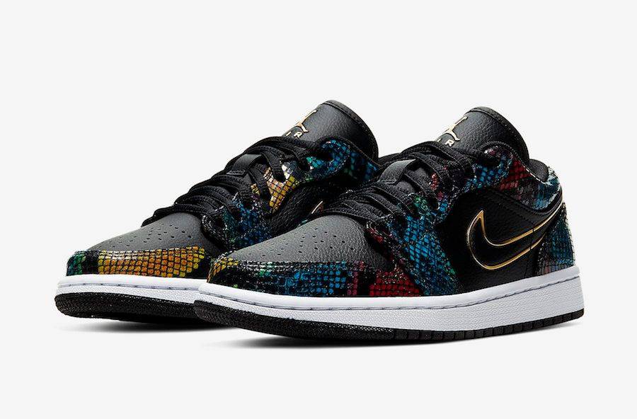 Air Jordan 1 Low Multi Snakeskin