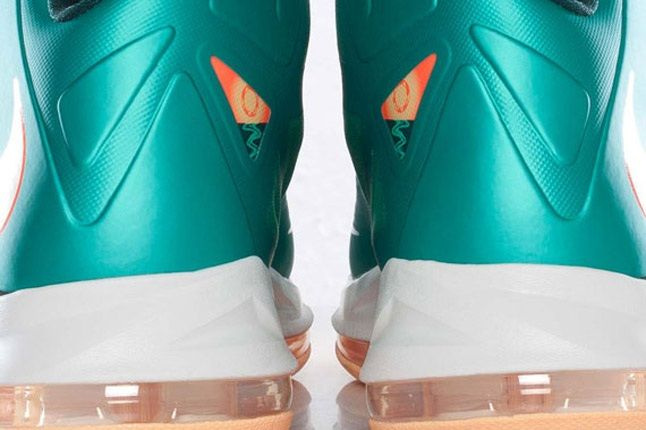 Nike Lebron X Dolphins European Release Heel 1