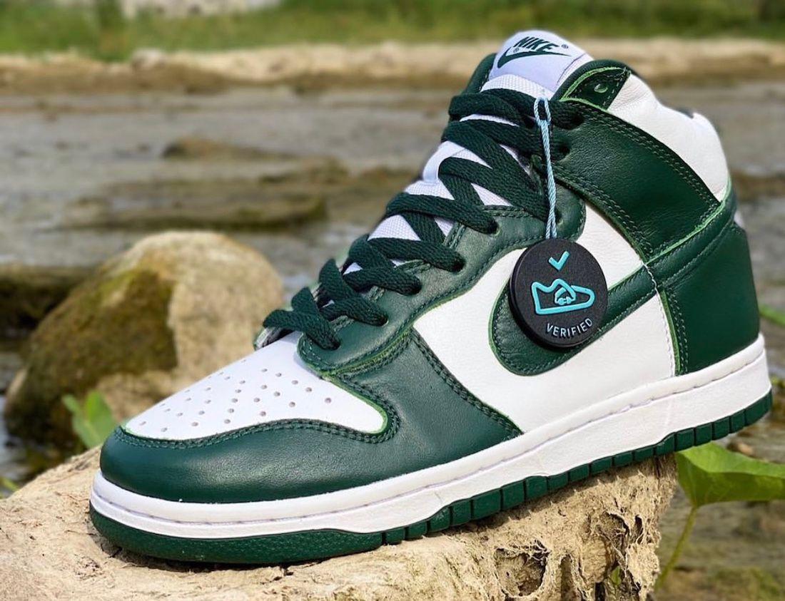 Nike Dunk High Pro Green Left