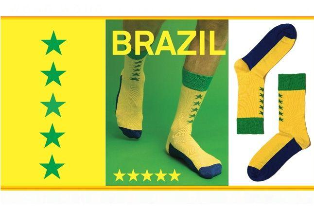 World Cup Socks Wong Wong Brazil 1