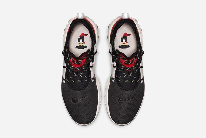 Nike Air Presto React Red Black Above Shot