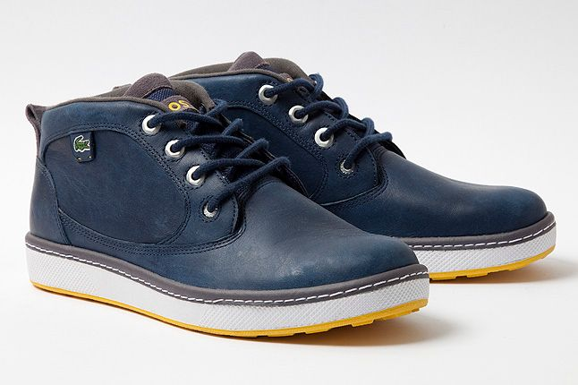 Quarter Keston Blue Leather Yellow Accents 1