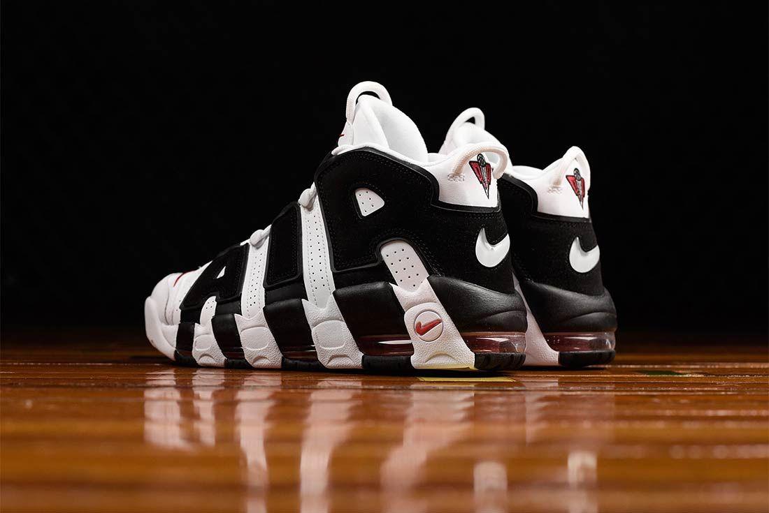 Nike Air More Uptempo Black White Bump