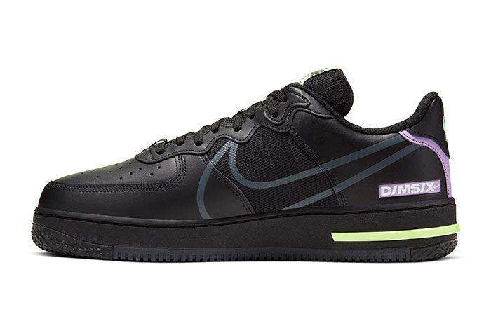 Nike Air Force 1 React Black Medial
